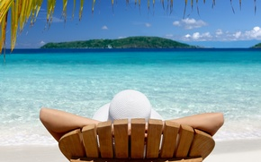 Picture tropics, vacation, Island, chaise