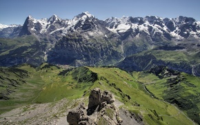 Picture mountains, nature, Switzerland