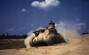 Wallpaper in the dust, Tank, M3Lee, Grant