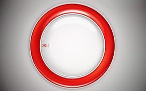 Wallpaper red, white, round