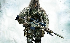Picture weapons, sniper, camouflage, PS3, Sniper: Ghost Warrior 2, CryEngine 3, Wii U, Xbox360, Holdings City …