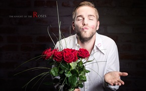 Picture background, roses, male