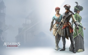 Picture gun, hat, dress, killer, Evelyn, blade, assassin, Assassin's Creed: Liberation HD, Aveline