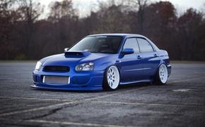 Picture tuning, before, blue, blue, subaru impreza, Subaru, wrx sti