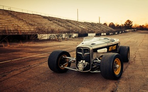 Picture Ford, Race, American, Hot rod, Speedway, '32, FULLER MOTO, Jet-hot