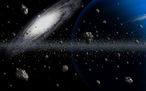 Picture the sky, light, the universe, asteroids, galaxy