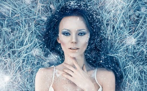 Picture frost, girl, frost, Alessandro Di Cicco, Iced Heart