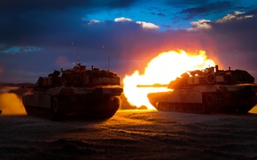 Picture weapons, shot, tanks, M1A1 Abrams