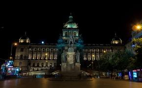 Picture night, Prague, Czech Republic, monument, Palace