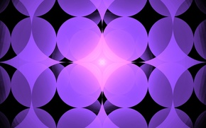 Picture abstraction, background, lilac, graphics, round, fractal, center, rhombus, symmetry, geometric shapes