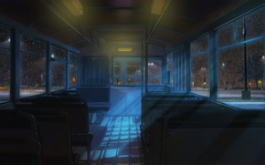 Picture night, street, bus, everlasting summer, endless summer, iichan-eroge