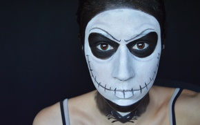 Picture woman, creepy, makeup