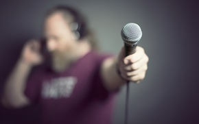 Picture background, people, microphone