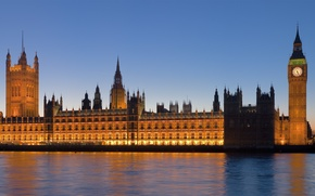 Wallpaper Westminster Abbey, UK, watch, big Ben, panorama, the city, Britain, England, view, england, river, britain