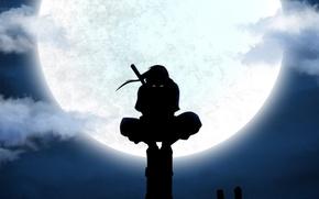 Picture night, the moon, Naruto, Naruto, Itachi