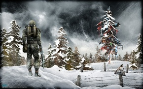 Wallpaper the game, new year, Stalker