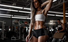 Wallpaper face, model, hair, figure, Valentina, the gym