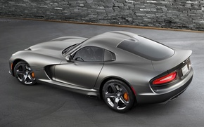 Picture background, Dodge, Dodge, supercar, Viper, rear view, GTS, Viper, SRT, Special Edition, Anodized Carbon