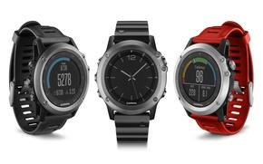 Picture red, black, design, digital clock, Garmin