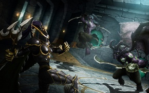 Wallpaper World of Warcraft, Warcraft, wow, art, Demon Hunter, Demon, illidan stormrage, Night elf