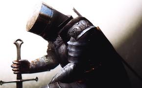Picture rendering, background, sword, armor, warrior, helmet