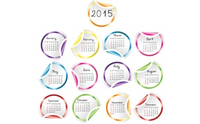 Picture calendar, year, 2015