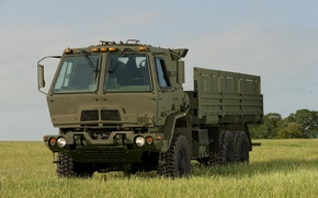 Picture field, the sky, truck, military, average, FMTV