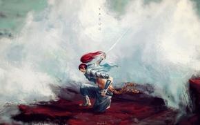 Picture sword, art, samurai, guy, League of Legends, LoL, Yasuo, Yasuo