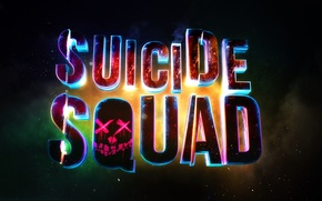 Picture rendering, logo, high resolution, bright, cinema4d, suicide squad, suicide squad