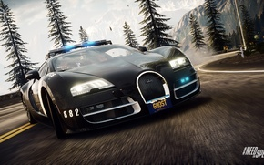 Picture Bugatti Veyron, Need for Speed, nfs, police, 2013, Rivals, NFSR, NSF