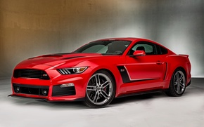 Picture red, Mustang, Ford, Mustang, Red, Ford, Roush, 2015, Stage 3