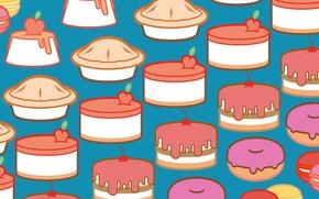 Picture figure, texture, illustration, cakes