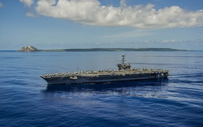 "Wallpaper sea, the carrier, (CVN 73), USS George Washington, type ""Nimitz"""