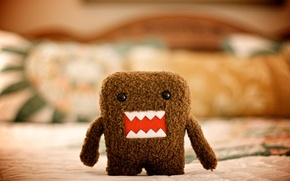 Wallpaper style, macro, toy, art, picture, Domo, character, photo, plush