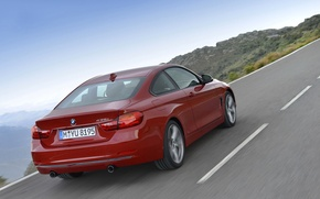 Picture road, landscape, coupe, BMW, 435i, the fourth series