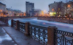 Picture Winter, The evening, Peter, River, Saint Petersburg, Russia, SPb, St. Petersburg, spb, Leningrad, Piter, Peterburg
