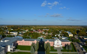 Picture landscape, view from the bell tower, Suzdal
