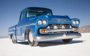 Picture desert, blue, Chevrolet Apache