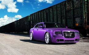Picture Chrysler, wheels, 300, vossen, purple, frontside