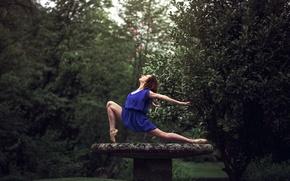 Picture flowers, grace, placer, ballerina, Pointe shoes, Marie-Lou Lagrange