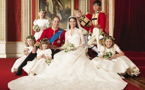 Picture flowers, veil, wedding, wedding dress, kids, the Prince of Wales, Catherine Middleton, Kate