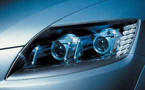 Picture car, auto, light, headlight