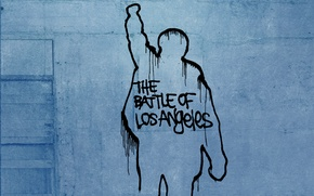 Wallpaper figure, the inscription, wall, the battle of los angeles, Rage against the machine