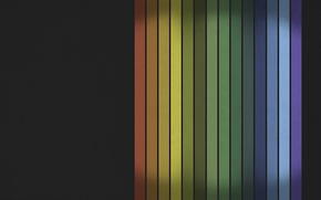 Picture line, a number, the colors of the rainbow