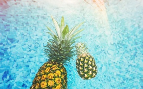 Picture water, pool, pineapple