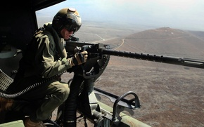 Picture weapons, army, soldiers, GAU-21, 50 caliber machine gun