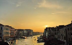 Picture landscape, sunset, view, channel, Venice