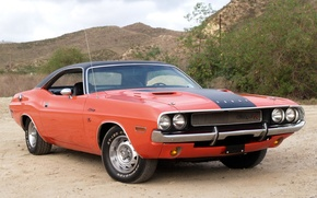 Picture background, Dodge, Dodge, Challenger, 1970, the front, Muscle car, Muscle car, R/T, Chelenzher