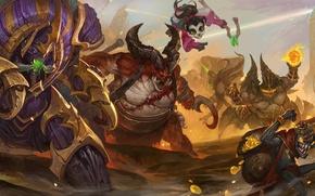 Wallpaper Heroes of the Storm, sarah kerrigan, warcraft, diablo, Anub'arak, starcraft, moba, Azmodan, Zeratul, li li