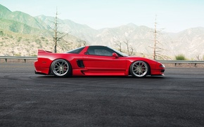 Picture car, red, honda, nsx, 1013mm